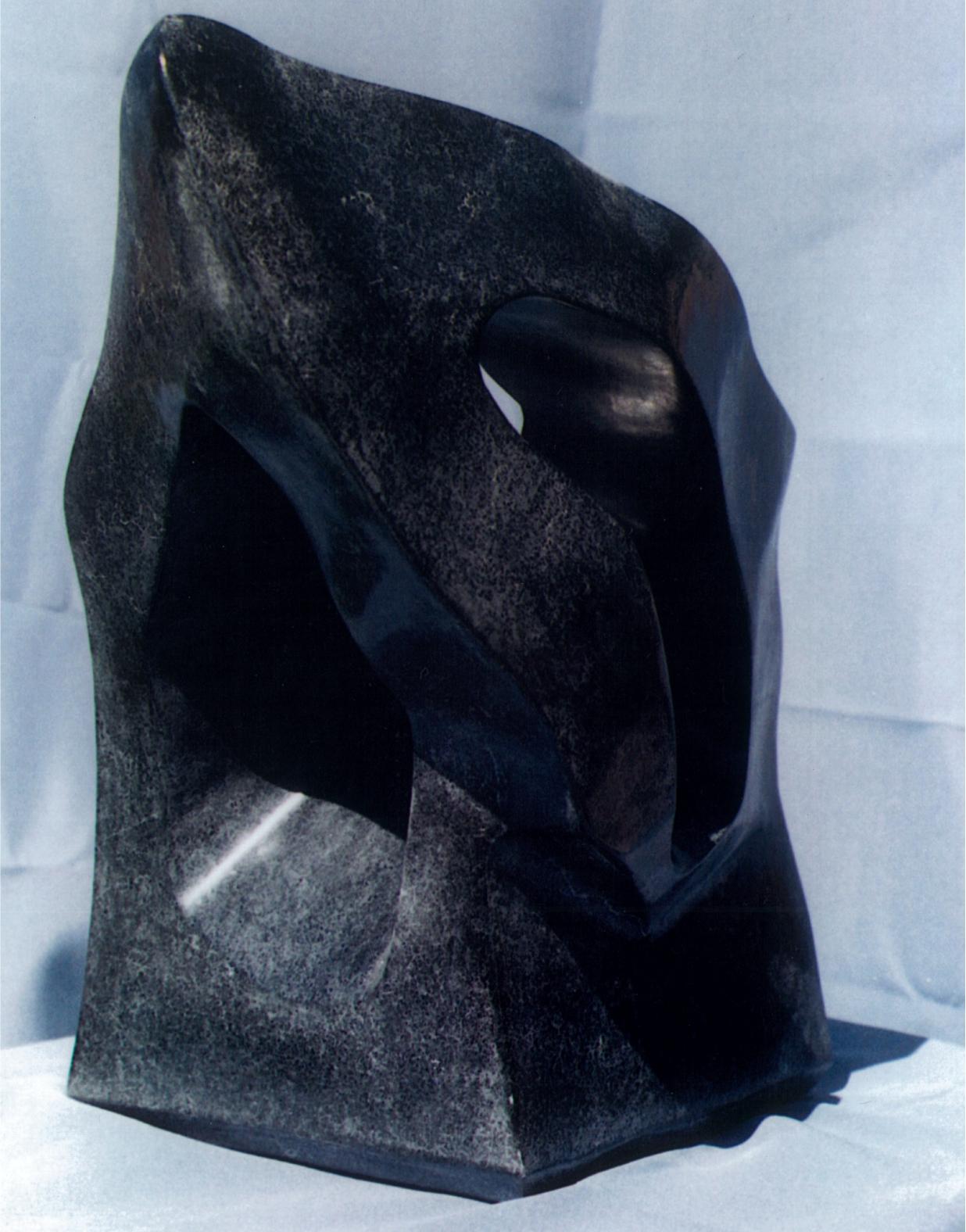 Raven's Peak - 1999 - Carved from Black Sandstone. Artist: Steven Zimmerman