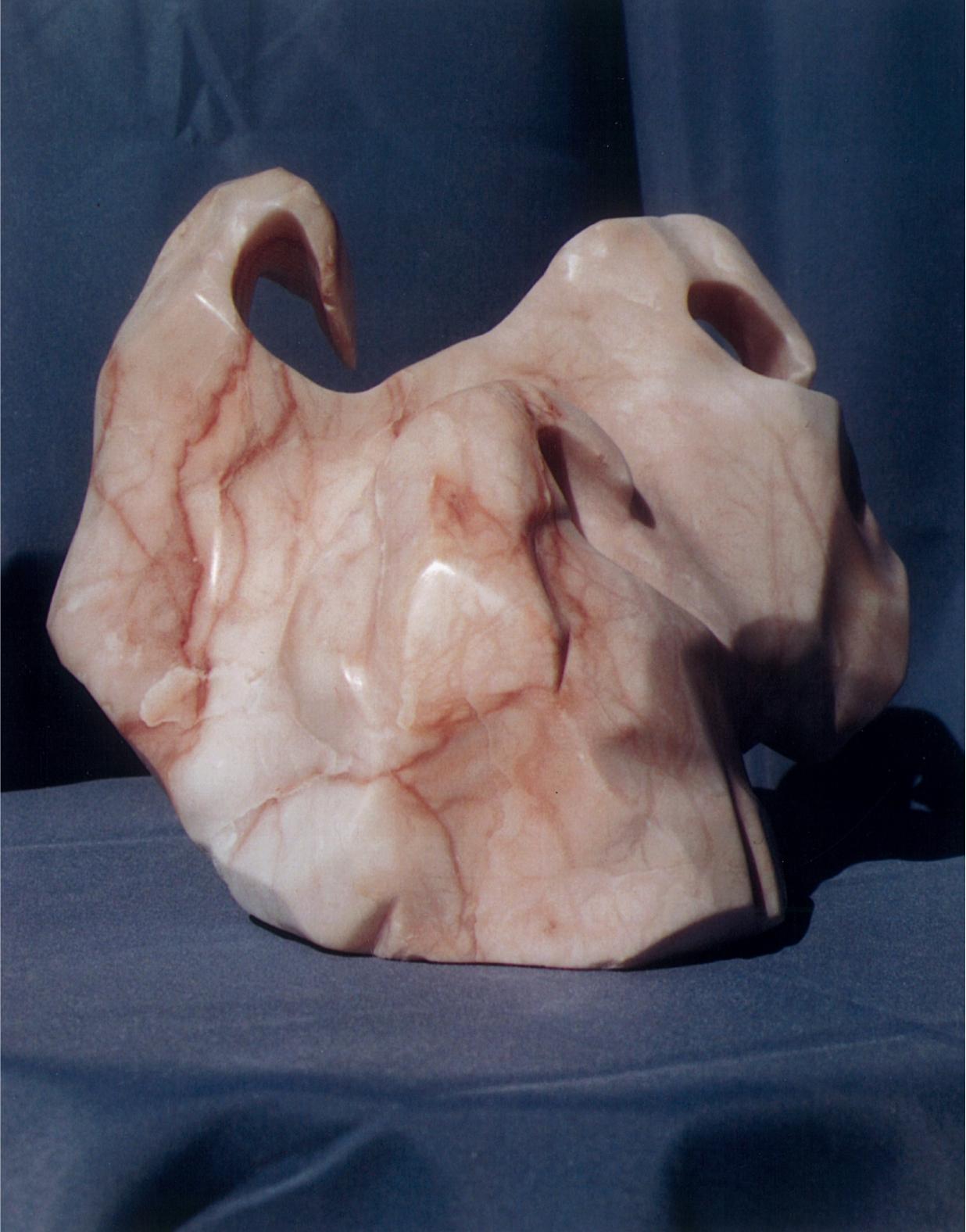 Random Wave - 1998 - Carved from Pink Alabaster. Artist: Steven Zimmerman